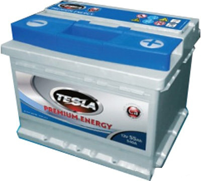 TESLA PREMIUM ENERGY 55 А/ч R+ EN520 низк.
