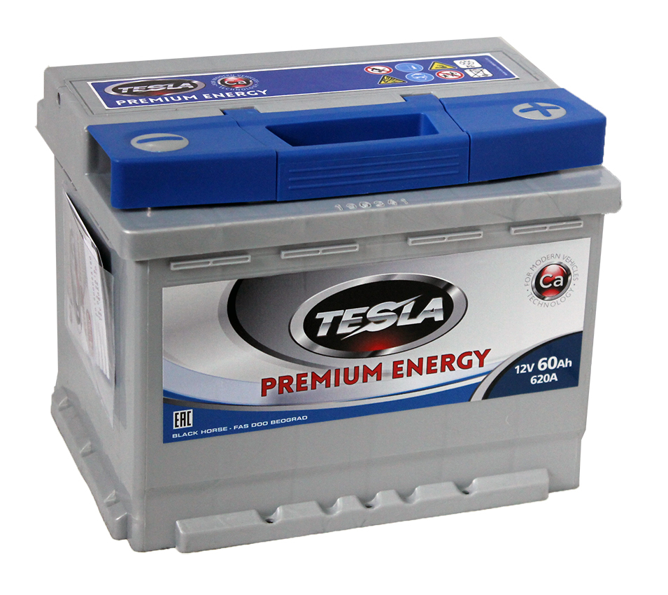 TESLA PREMIUM ENERGY 60 А/ч R+ EN620 низк.