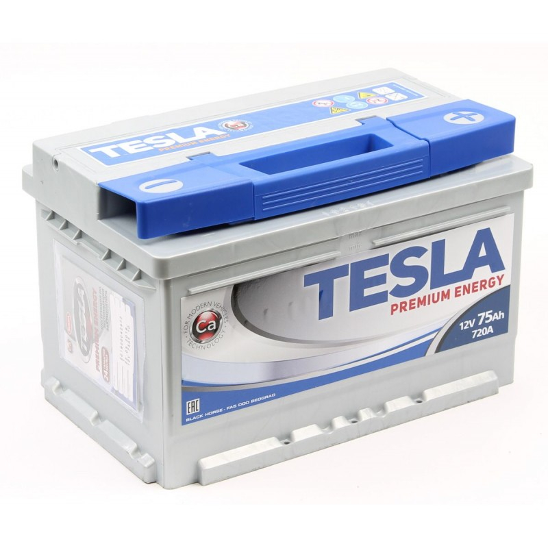 TESLA PREMIUM ENERGY 75 А/ч R+ EN720