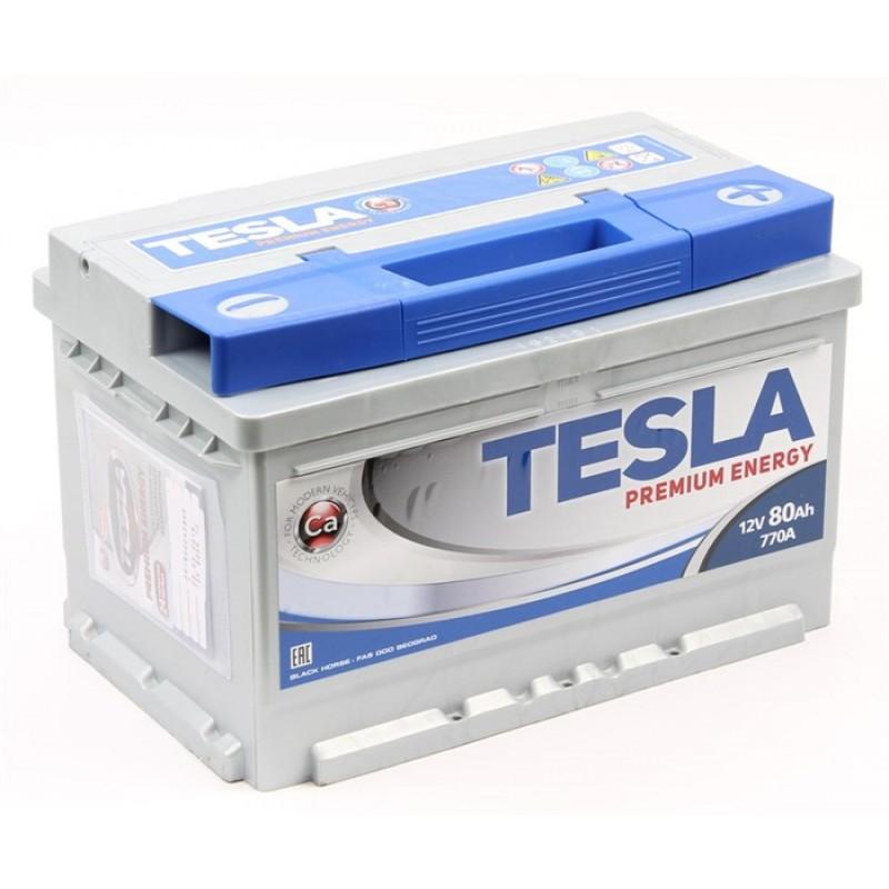 TESLA PREMIUM ENERGY 80 А/ч R+ EN770