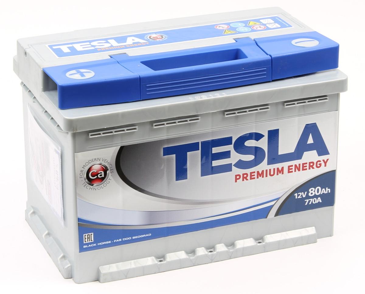 TESLA PREMIUM ENERGY 80 А/ч L+ EN770