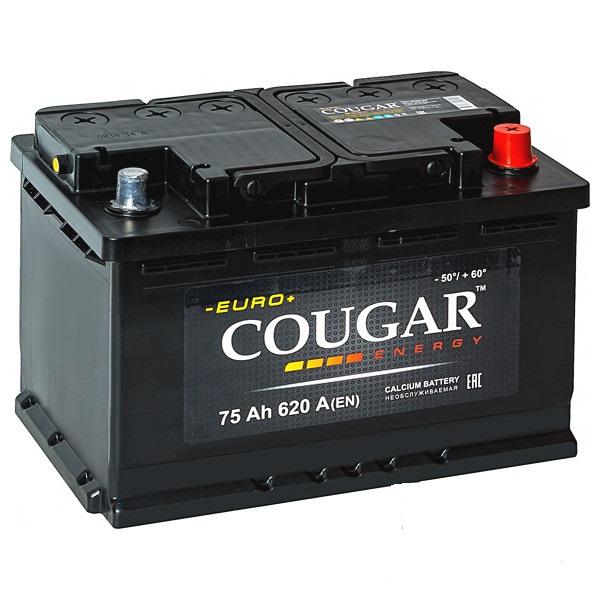 COUGAR Energy 75 А/ч R+ 620А