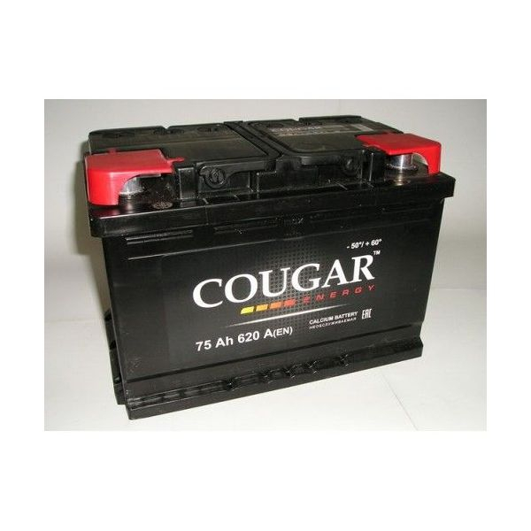 COUGAR Energy 75 А/ч L+ 620А