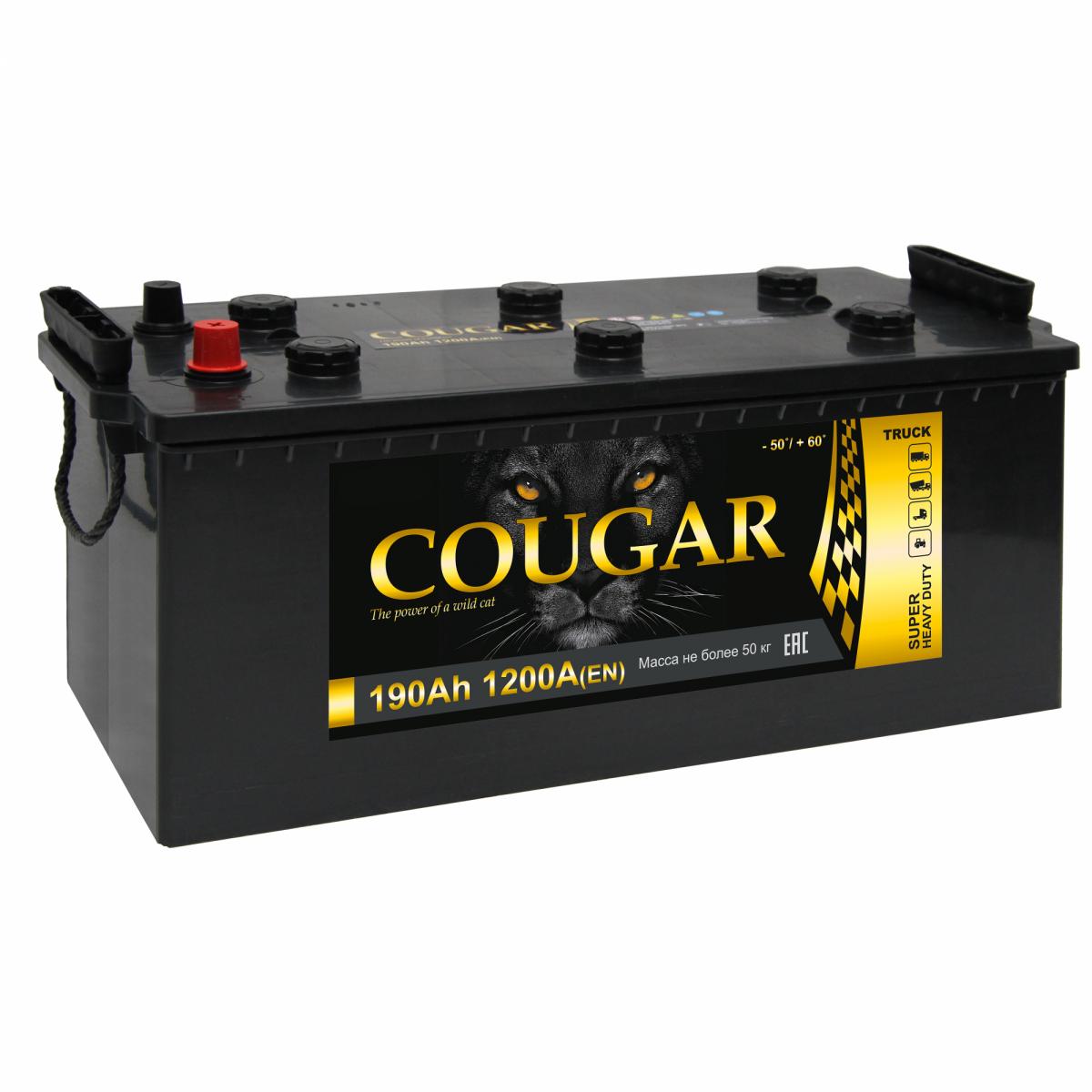 COUGAR Power 190 А/ч L+ 1300А