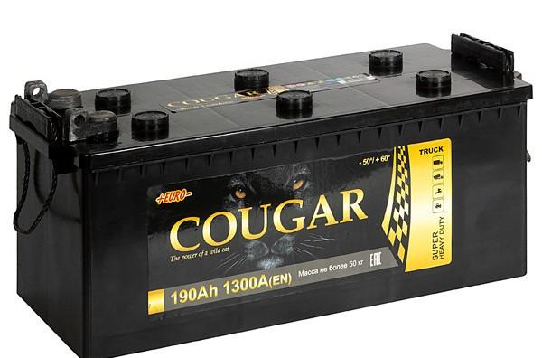 COUGAR Power 190 А/ч R+ 1300А болт