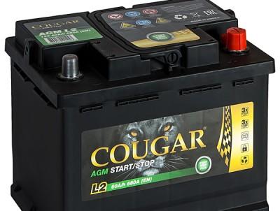 COUGAR AGM 60 А/ч R+680А