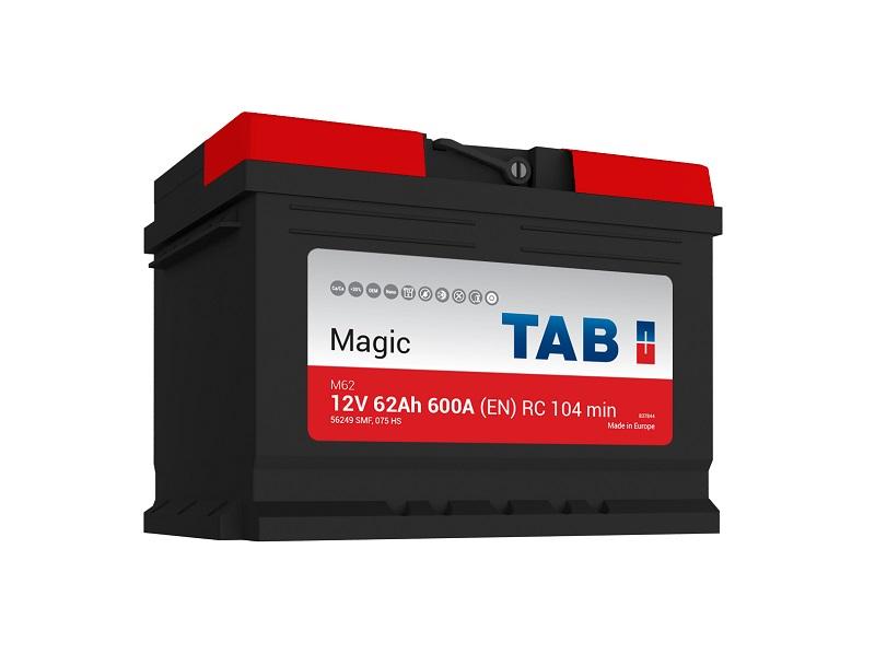 TAB Magic 62Ah 600A R+,низкий