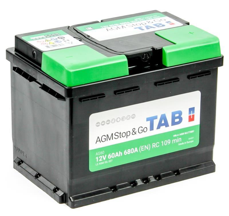 TAB AGM Stop&Go 6СТ-60 R+ EN680