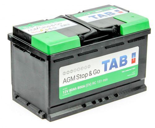 TAB AGM Stop&Go 6СТ-80 R+ EN800