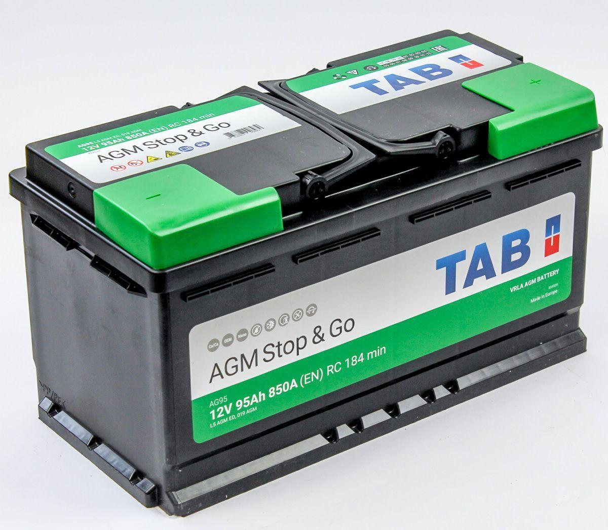 TAB AGM Stop&Go 95Ah 850A R+