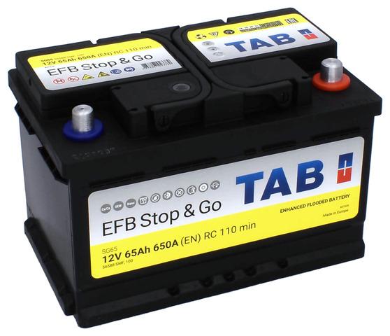 TAB EFB Stop & Go  60Ah 650A R+,низкий