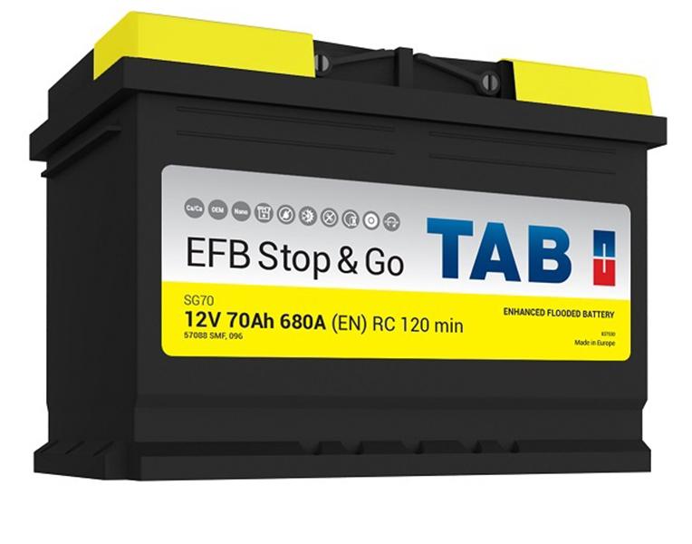 TAB EFB Stop & Go 70Ah 680A R+