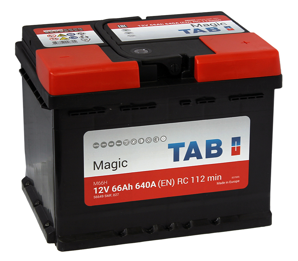 TAB Magic  66Ah 640A R+