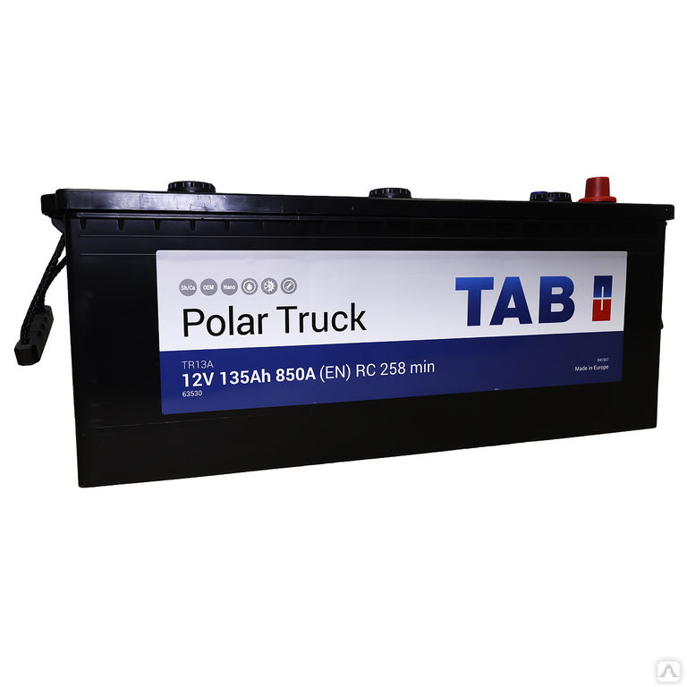 TAB Polar Truck  135Ah 850A L+,евро.конус