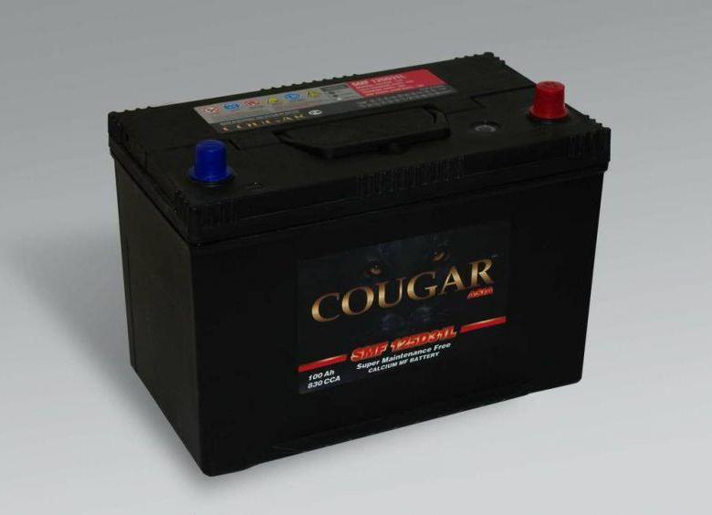 COUGAR SMF 125D31L 100 А/ч EN830A