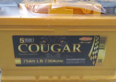 COUGAR PRO 75 А/ч L+ EN730A