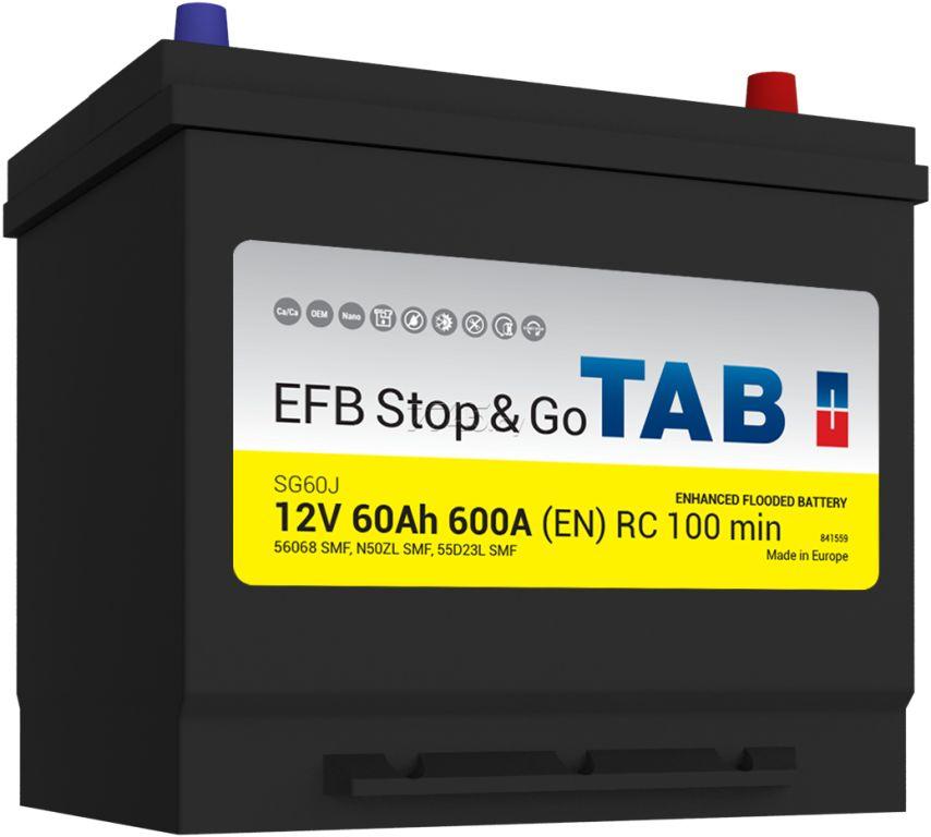 TAB EFB Stop&Go 55D23L 60Ah 600A