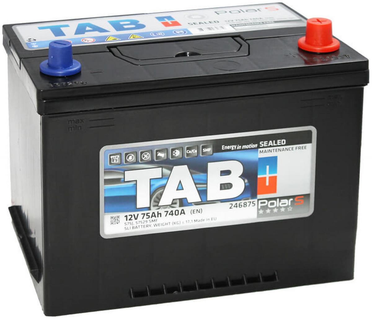TAB Polar  6СТ-75R+ EN740