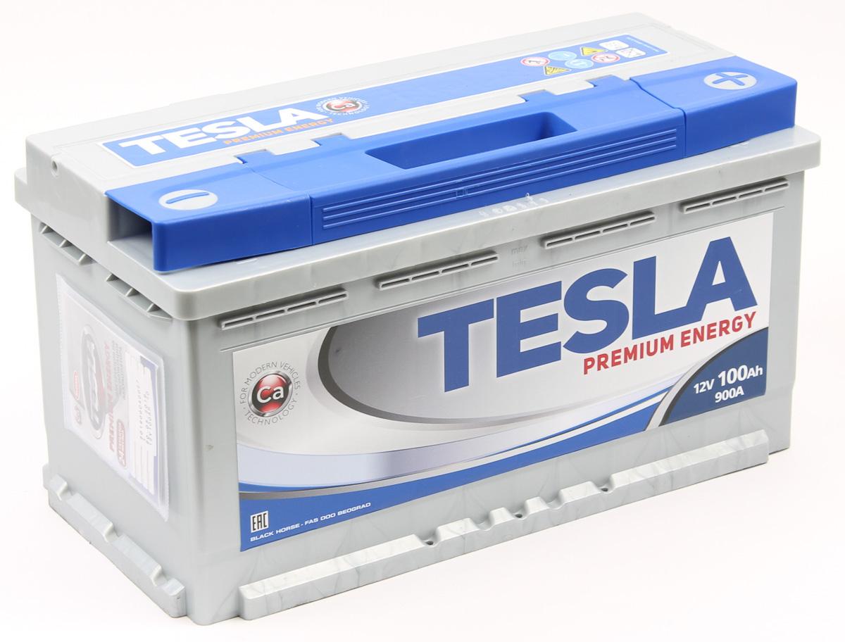 TESLA PREMIUM ENERGY 100Ah 900A R+,низкий