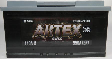 АКТЕХ CLASSIC 110Ah 950A L+