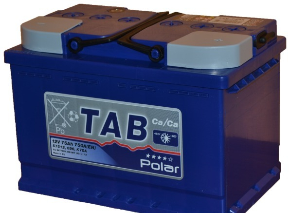TAB POLAR 75Ah 750A L+