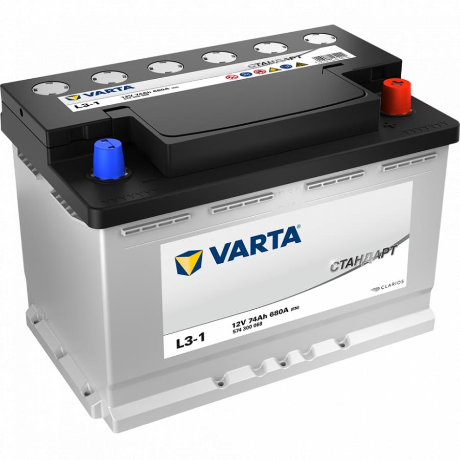 Varta Стандарт 74Ah 680A R+