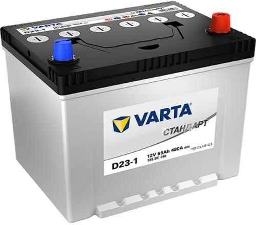 Varta Стандарт D23L 55Ah 480A