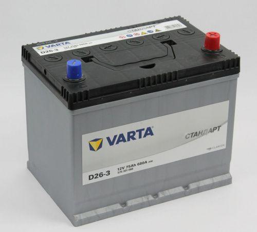 Varta Стандарт D26L 70Ah 620A