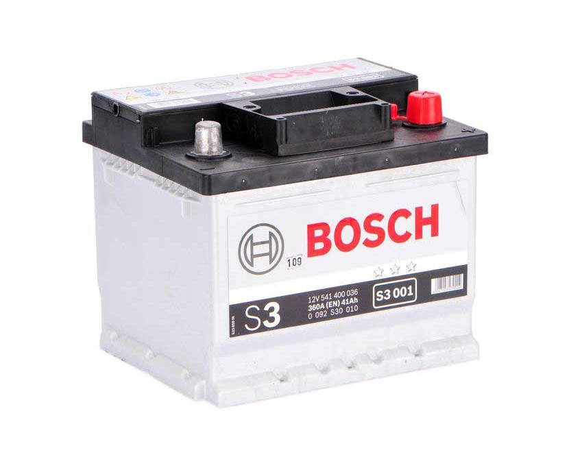 BOSCH S3 41Ah 360A R+,низкий