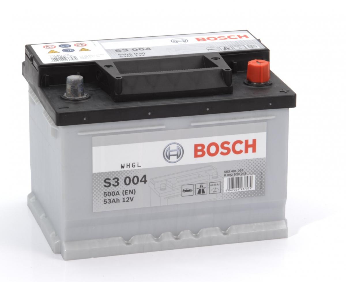 BOSCH S3 53Ah 500A R+,низкий