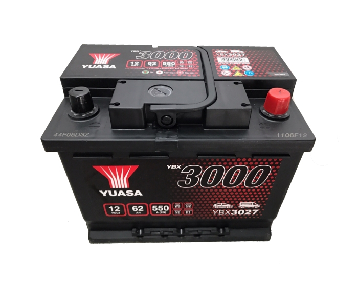 YUASA YBX3027-062 62Ah 550A R+