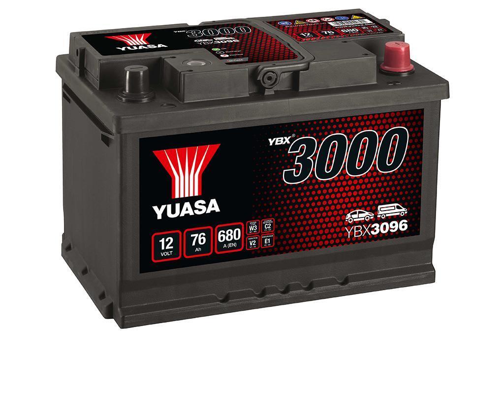 YUASA YBX3096-076 76Ah 680A R+