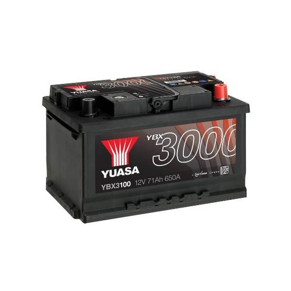 YUASA YBX3100-071 71Ah 680A R+,низкий
