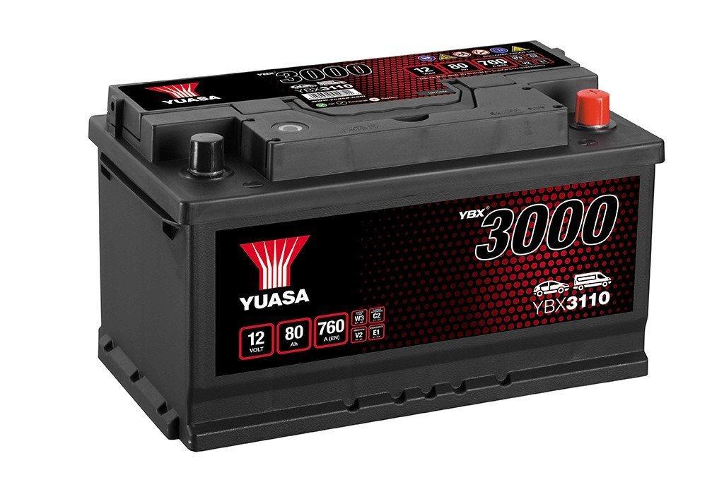 YUASA YBX3110-080 80Ah 760A R+,низкий