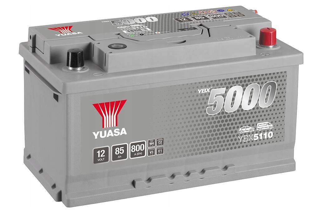 YUASA YBX5110-085 85Ah 800A R+,низкий