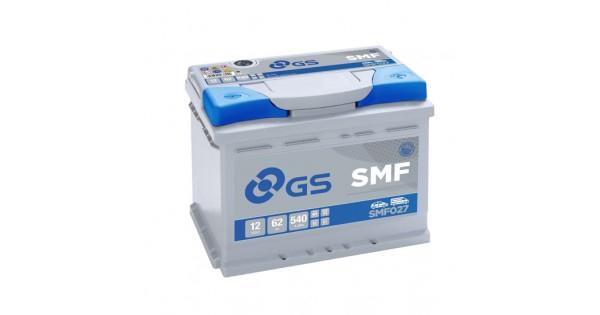 GS SMF027 62Ah 540A R+