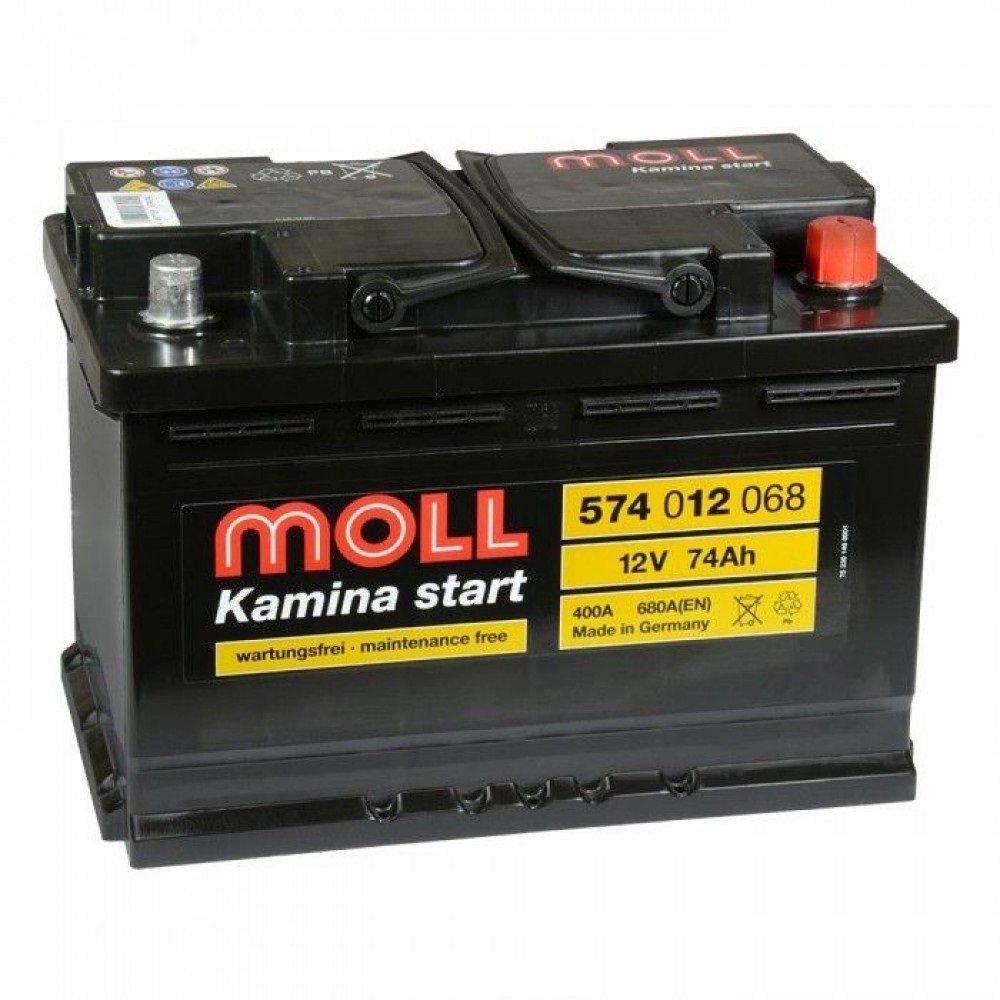 MOLL Kamina 74Ah 680A R+