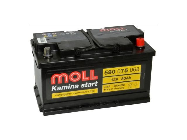 MOLL Kamina 80Ah 680A R+