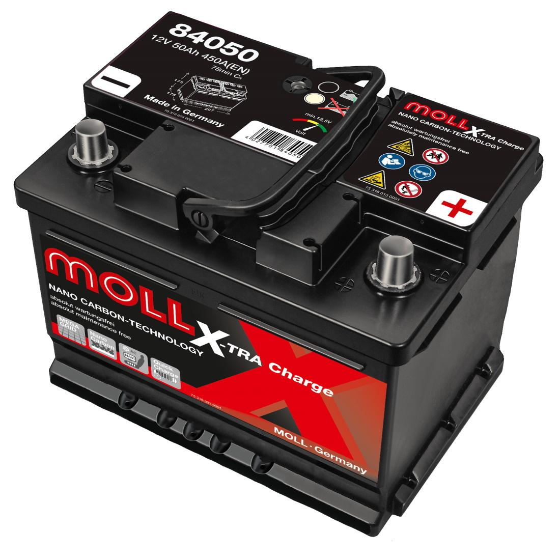 MOLL X-TRA CHARGE 50Ah 450A R+,низкий