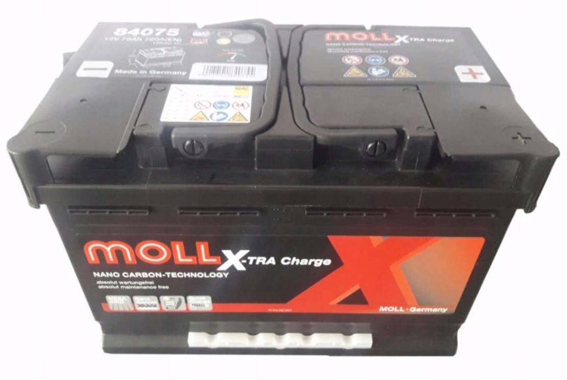 MOLL X-TRA CHARGE 75Ah 720A R+