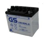 Yuasa GS Y60N-24L-A, 29,h,  300A,  184x125x158(175)