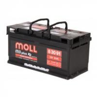 аккумулятор автомобильный Moll M3 Plus 91 R+ низкий 91 Ач 760 А