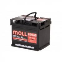 аккумулятор автомобильный Moll M3 Plus 46 R+ низкий 46Ач 420А