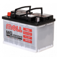 аккумулятор автомобильный Moll Standart 75 L+ 75 Ач 720 А