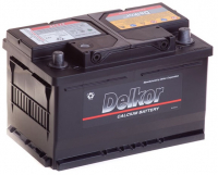 аккумулятор автомобильный  DELKOR 6СТ-75 R+ 57539
