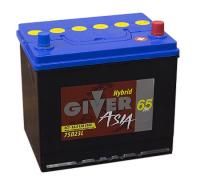 аккумулятор автомобильный GIVER ASIA 6СТ-65 R+ 75D23L