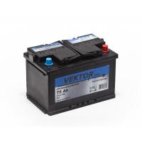 аккумулятор автомобильный VEKTOR PLUS 6CT-75 R+ 75Ач 570А