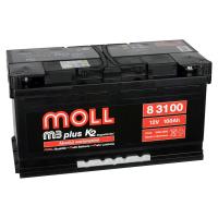 аккумулятор автомобильный MOLL M3 PLUS 100 R+ 100 АЧ 850 А