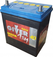 аккумулятор автомобильный GIVER ASIA 6СТ-40 (46B19R) 40 Ач 370 А