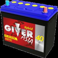 аккумулятор автомобильный GIVER ASIA 6СТ-40 (46B19L) 40 Ач 370 А